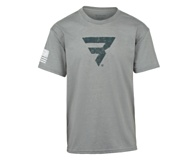 Power B Logo Tee, Grey, dynamic