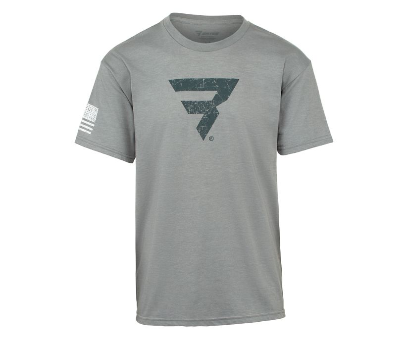 Power B Logo Tee, Grey, dynamic