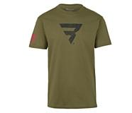 Power B Logo Tee, Military Green, dynamic