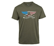 On The Ground Tee, Olive Heather, dynamic