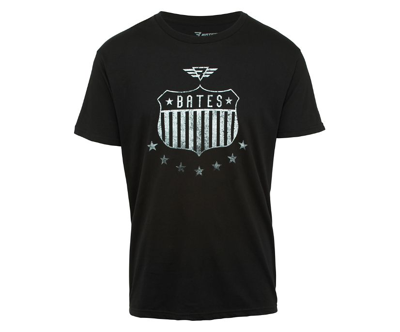 Shield and Stars Tee, Black, dynamic