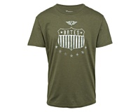 Shield and Stars Tee, Olive Heather, dynamic