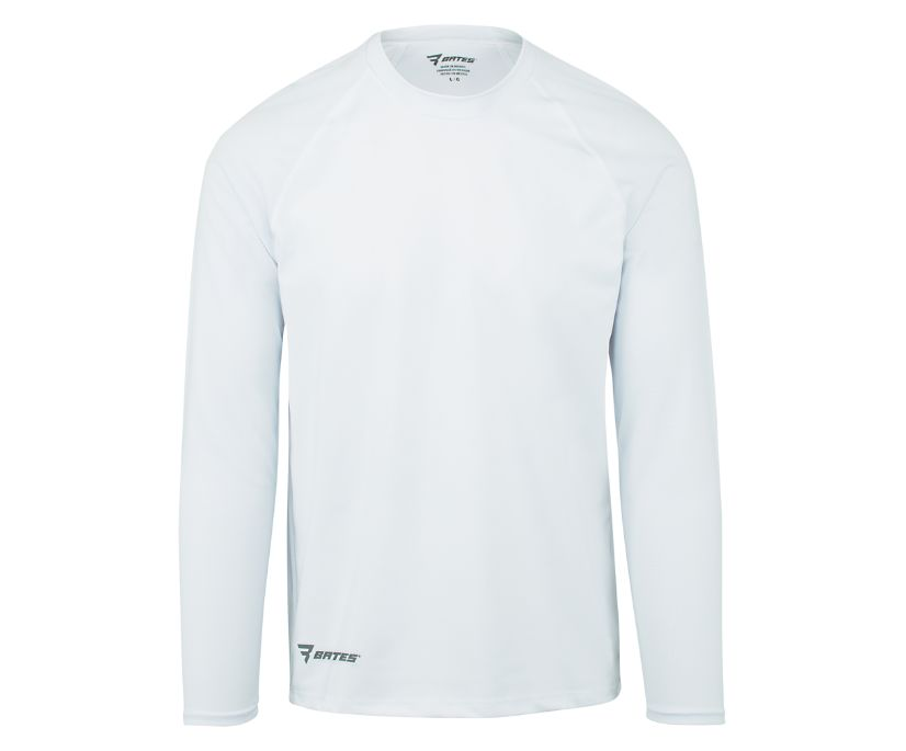 Long Sleeve Baselayer, White, dynamic