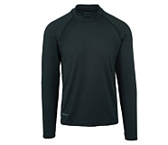 Mock Neck Fleece Baselayer, Black, dynamic