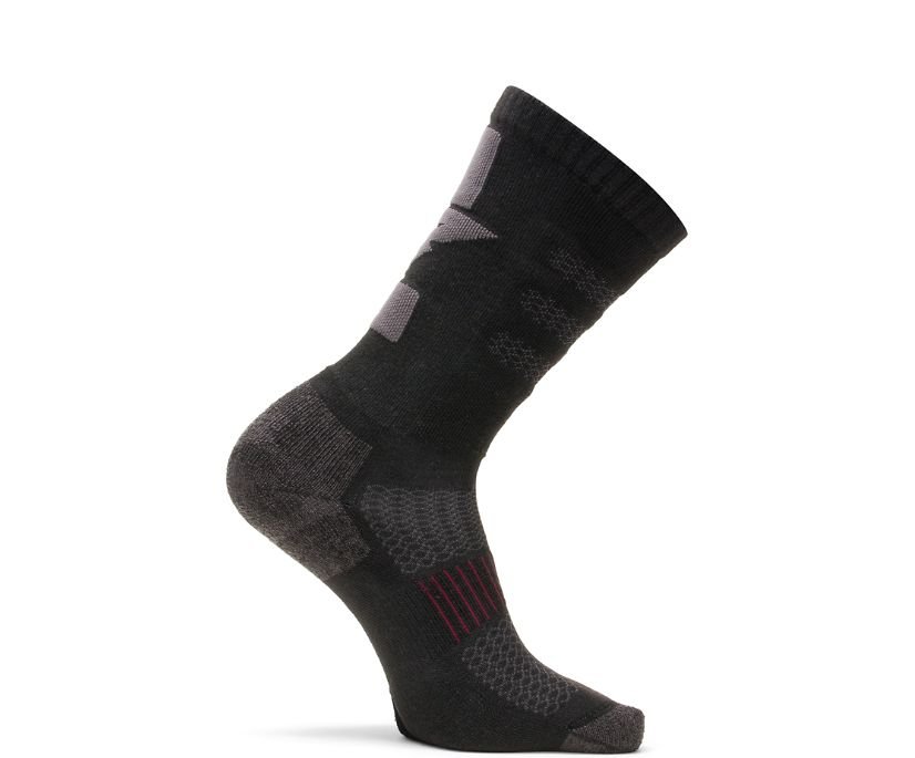 Cyren 1-PK Crew Sock, Black, dynamic