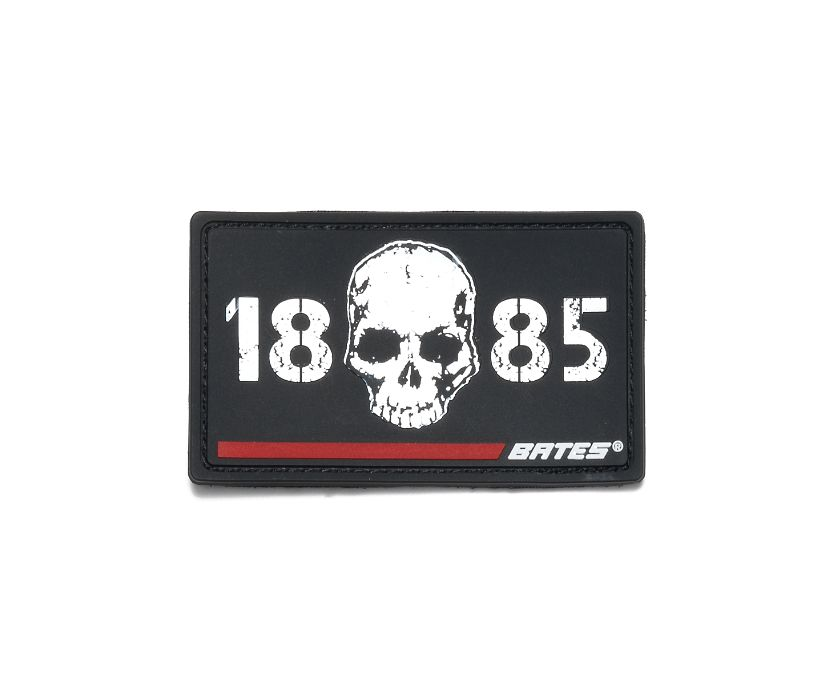 Skull 1885 Red Line Patch, Red, dynamic