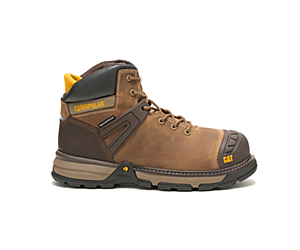 Excavator Superlite Waterproof Soft Toe Work Boot, Dark Beige, dynamic