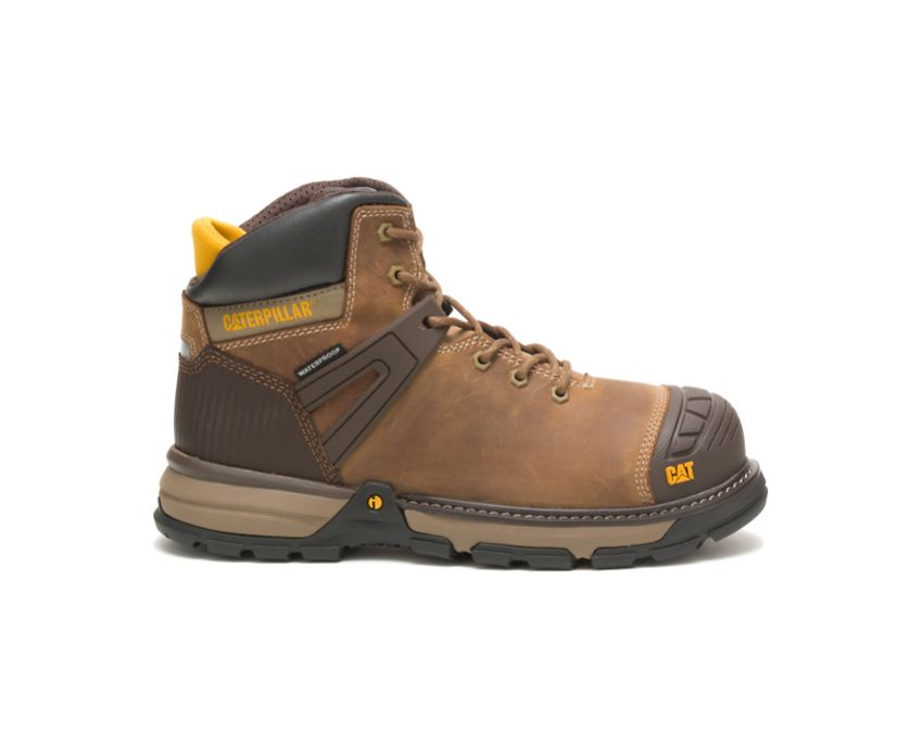 Excavator Superlite Waterproof Soft Toe Work Boot, Dark Beige, dynamic