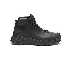 Provoke Mid Waterproof Work Boot, Black, dynamic