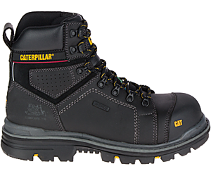"Hauler 6"" Waterproof Composite Toe Work Boot, Black, dynamic"