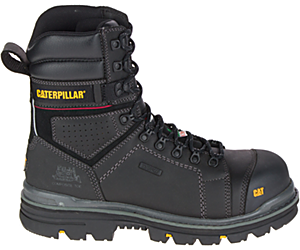 "Hauler 8"" Waterproof Composite Toe Work Boot, Black, dynamic"