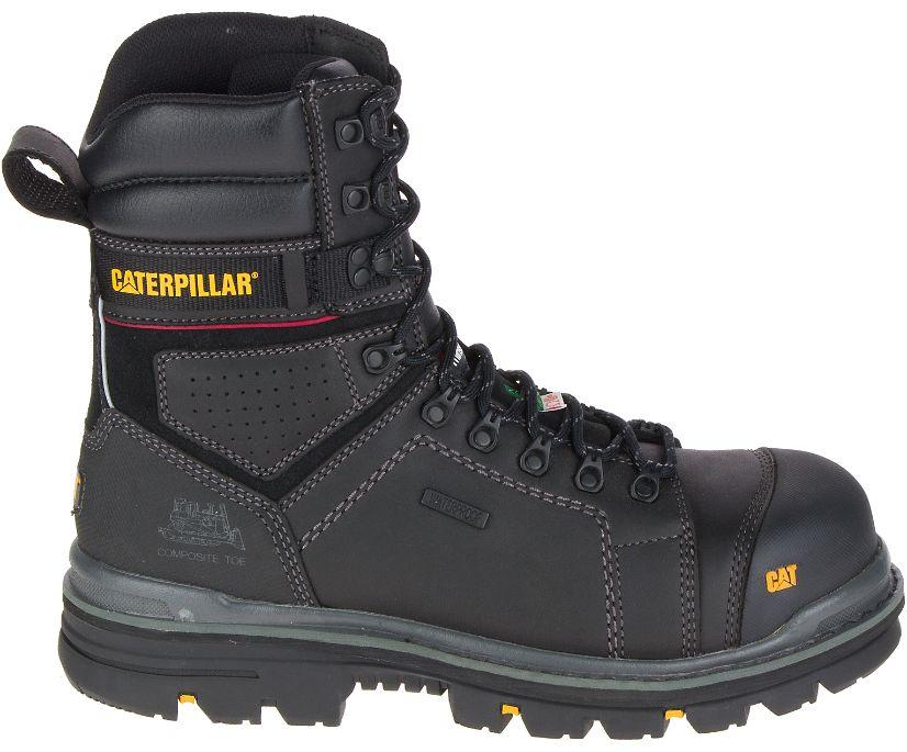 "Hauler 8"" Waterproof Composite Toe Work Boot, Black, dynamic"