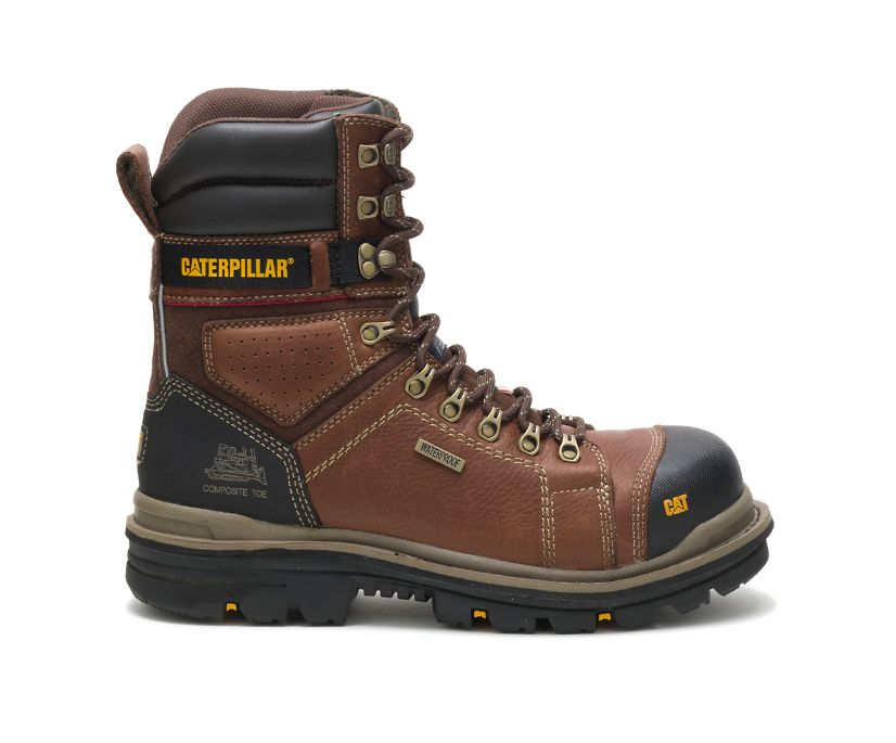 "Hauler 8"" Waterproof Composite Toe Work Boot, Oak, dynamic"