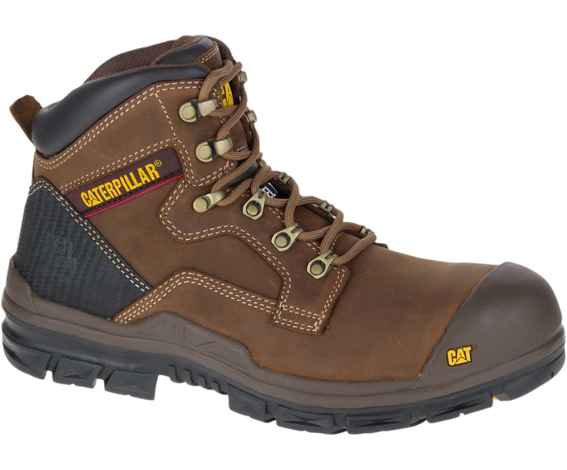 Bearing S3 Water Resistant HRO SRC Steel Toe Work Boot, Choco Brown, dynamic