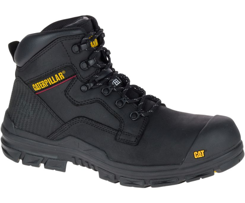 Bearing S3 Water Resistant HRO SRC Steel Toe Work Boot, Black, dynamic