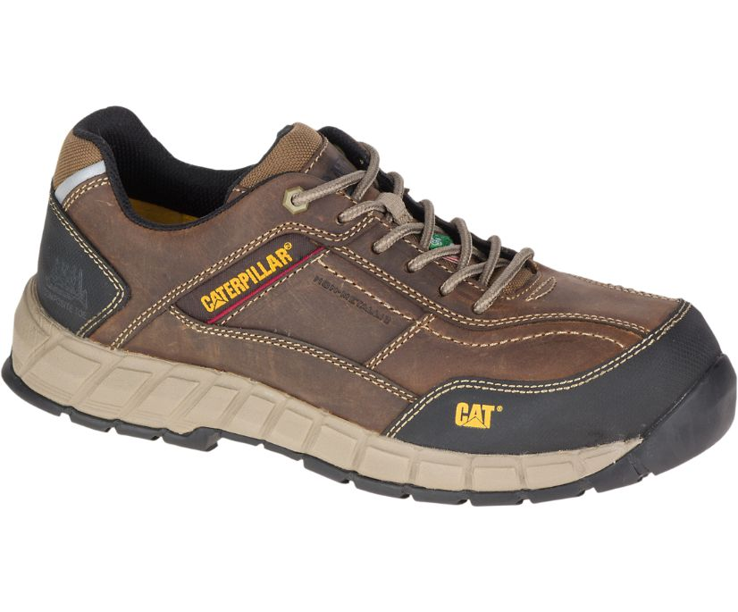 Streamline Leather CSA Composite Toe Work Shoe, Dark Beige, dynamic