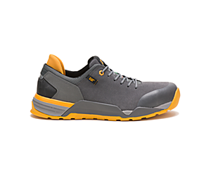 Sprint Suede Alloy Toe CSA Work Shoe, Pewter, dynamic