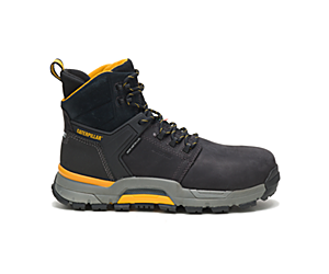 CAT EDGE Waterproof Nano Toe CSA Work Boot, Black, dynamic