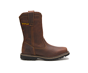 Wellston Pull On Work Boot, Brown, dynamic