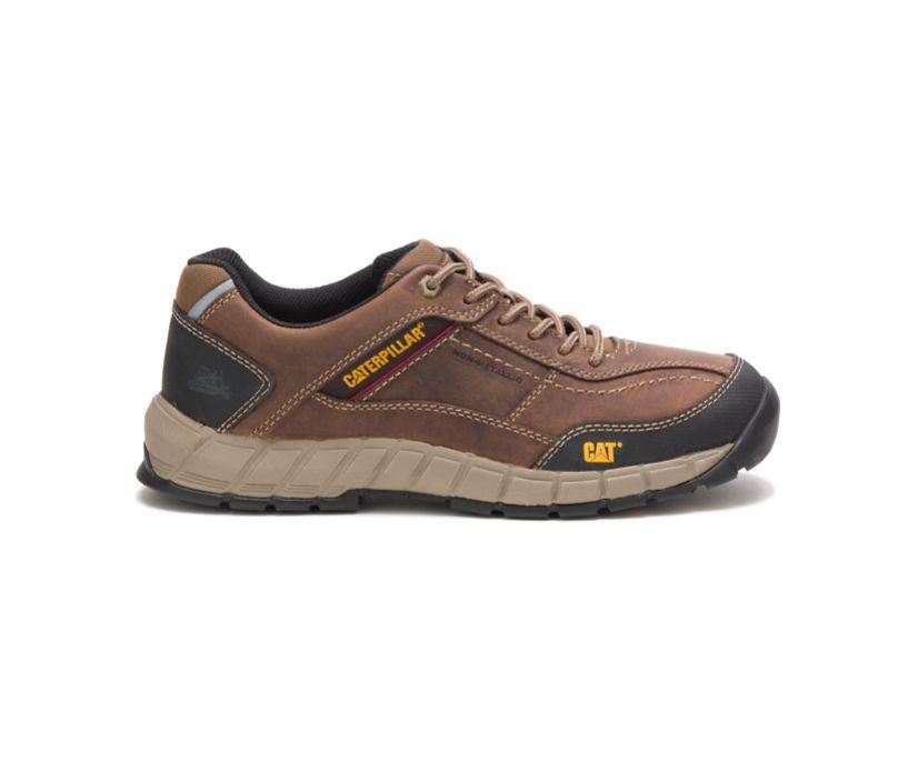 Streamline Leather Shoe, Brown, dynamic