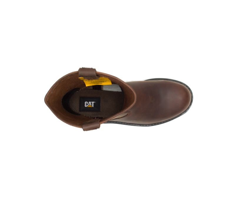Revolver Steel Toe Work Boot, Brown, dynamic