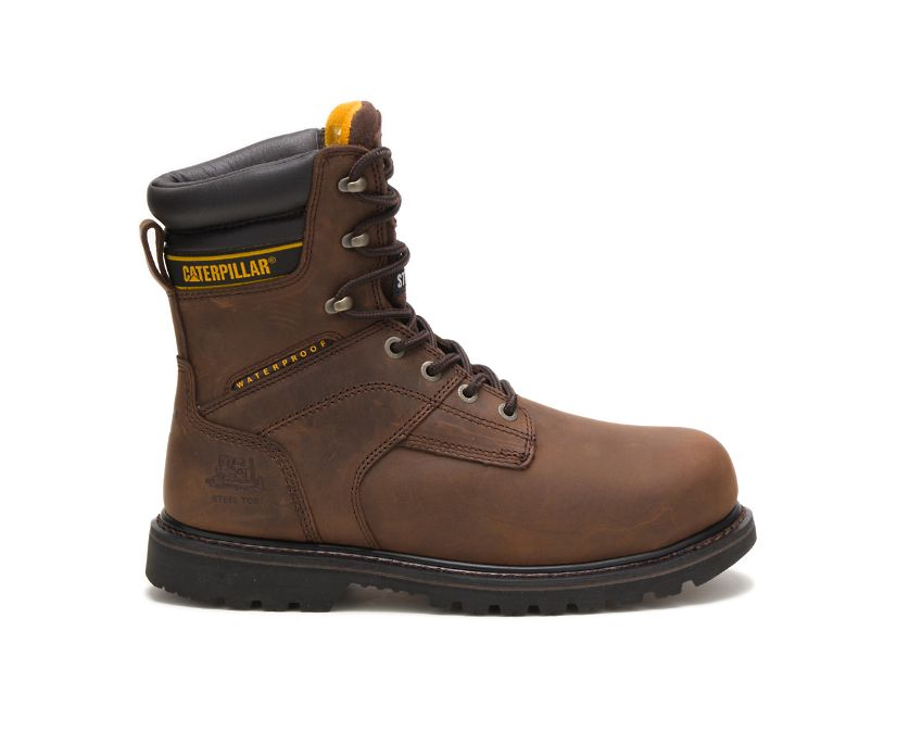 "Salvo 8"" Waterproof Steel Toe THERMOLITE® Work Boot, Dark Brown, dynamic"
