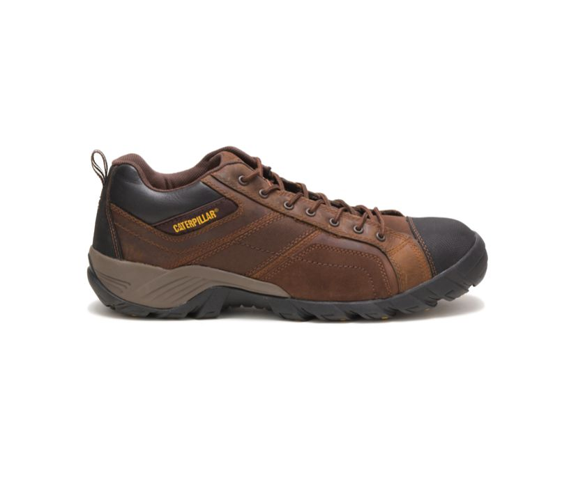 Argon Composite Toe Work Shoe, Dark Brown, dynamic