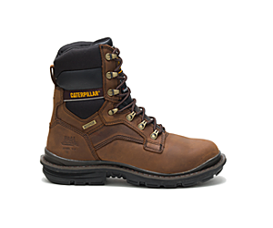 "Flexion Generator 8"" Waterproof Thinsulate™ Steel Toe Work Boot, Dark Brown, dynamic"