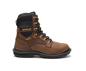 """Flexion Generator 8"""" Waterproof Thinsulate™ Steel Toe Work Boot, Dark Brown, dynamic"""