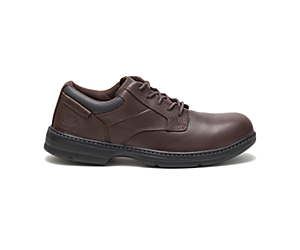 Oversee Steel Toe Work Shoe, Dark Brown, dynamic