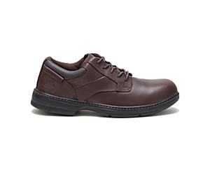 Oversee Steel Toe Work Shoe, Dark Brown, dynamic