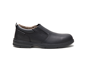 Conclude Steel Toe Work Shoe, Black, dynamic