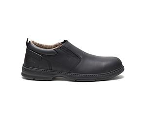 Conclude Steel Toe Work Shoe, Black, dynamic