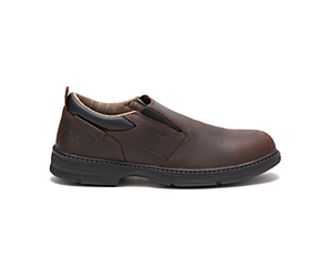 Conclude Steel Toe Work Shoe, Dark Brown, dynamic