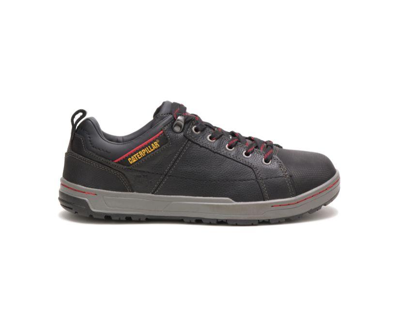 Brode Steel Toe Work Shoe, Black, dynamic