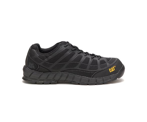 Streamline Composite Toe Work Shoe, Black/Black, dynamic