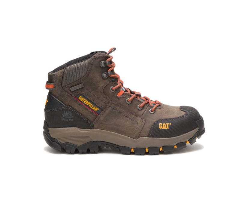 Navigator Mid Waterproof Steel Toe Work Boot, Dark Gull Grey, dynamic