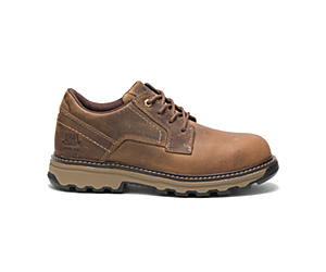 Tyndall Steel Toe Work Shoe, Dark Beige, dynamic