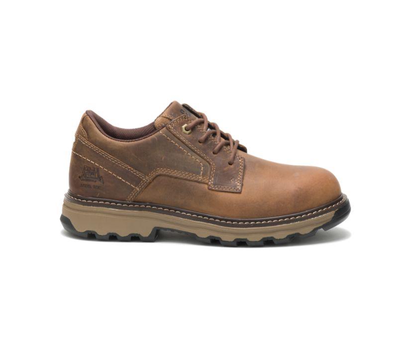 Tyndall Steel Toe Work Shoe, Dark Beige, dynamic