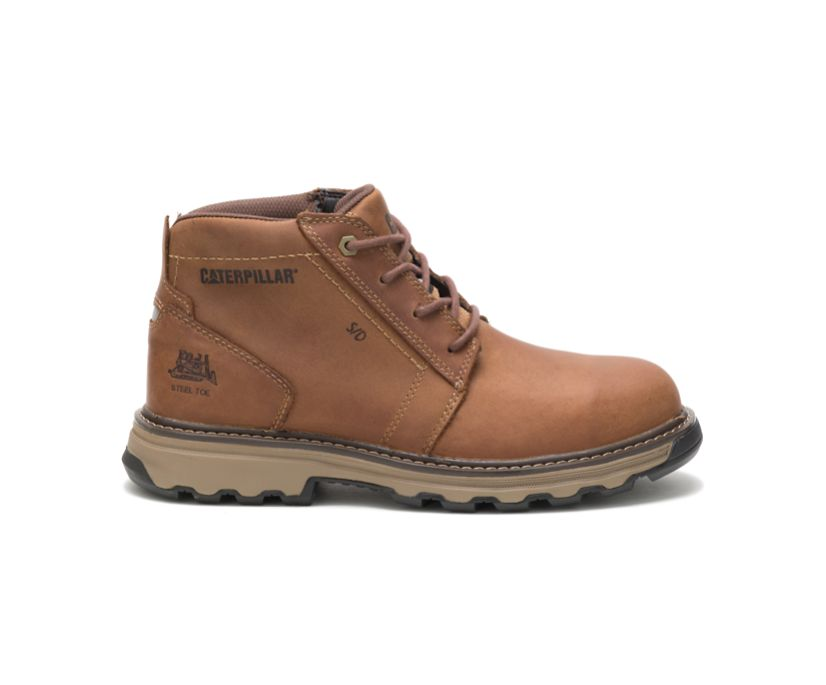 Parker Steel Toe Work Boot, Dark Beige, dynamic
