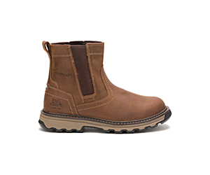 Pelton Steel Toe Work Boot, Brown, dynamic
