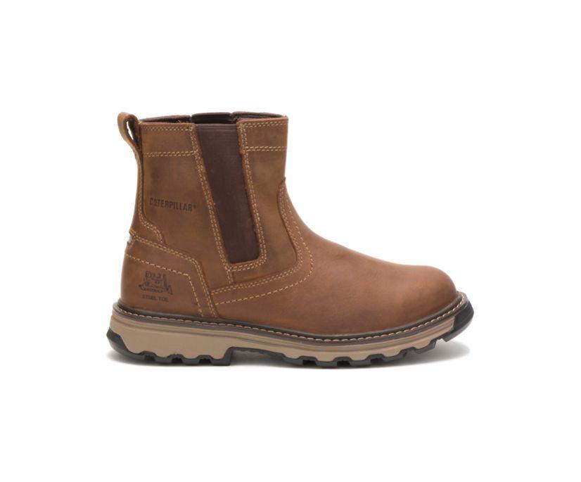 Pelton Steel Toe Work Boot, Brown, dynamic