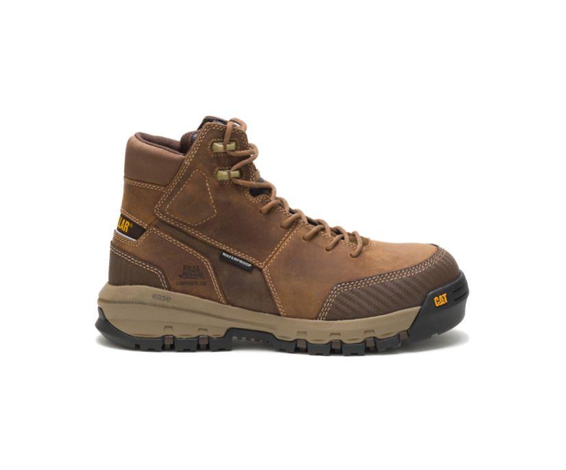 Device Waterproof Composite Toe Work Boot, Dark Beige, dynamic