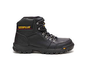 Outline Steel Toe Work Boot, Black, dynamic