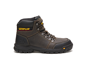 Outline Steel Toe Work Boot, Dark Gull Grey, dynamic