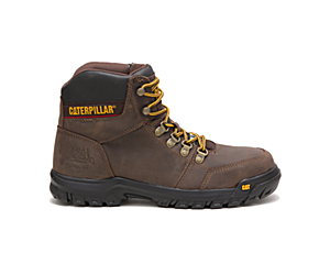 Outline Steel Toe Work Boot, Seal Brown, dynamic