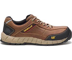 Streamline Leather Composite Toe Work Shoe, Brown, dynamic