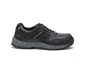 Streamline Leather Composite Toe Work Shoe, Black, dynamic