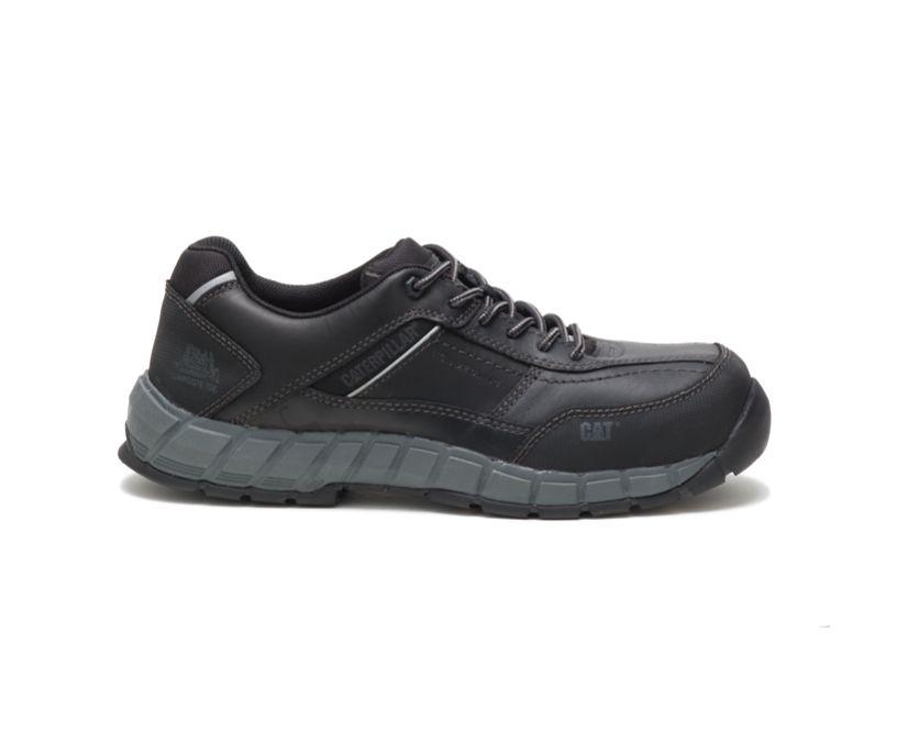 Streamline Leather Composite Toe Work Shoe, Black, dynamic