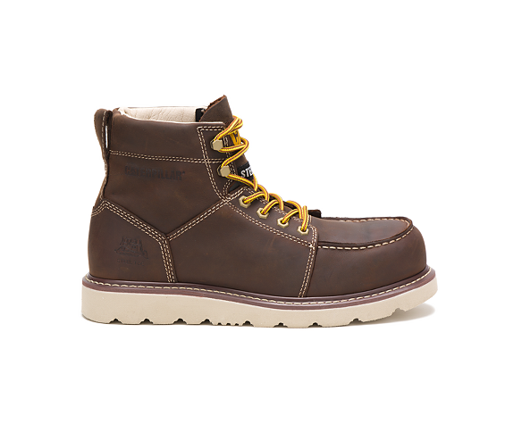 Tradesman Steel Toe Work Boot, Chocolate Brown, dynamic